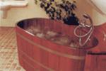 Бочка здоровья или деревянная купель для бани и сауны.